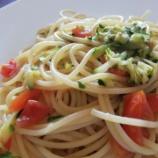 『ズッキーニのスパゲッティと便利で簡単リメイク料理フリッタータ』の画像