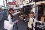 『かたのグルメまつり』。ご当地アイドルと一緒にお店に行ってみた!~カフェsucreのサツマ芋ドリンク~