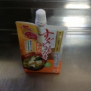 春菊とオクラの味噌汁