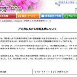 『戸田市は放射能除染基準値を毎時0.23マイクロシーベルトに定めました』の画像