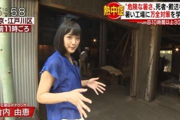 【画像】竹内由恵アナ、現場で汗だくになりエロエロになる