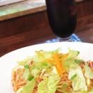 ぶらり、冷製トマトスパゲッティ&アイスコーヒー@retro cafe 異人館【秋田市】