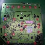 『自動車エアコンパネルのLED打ち換え(LED交換)&回路修復手術』の画像