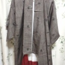 大島紬を解いて、洗濯、アイロンと型紙作り