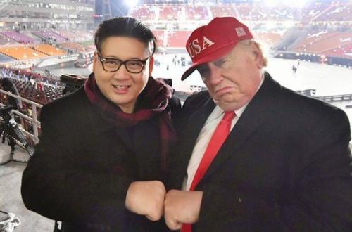 【画像】トランプと金正恩のそっくりさん、再現度が高すぎて平昌五輪開会式から出禁のサムネイル画像