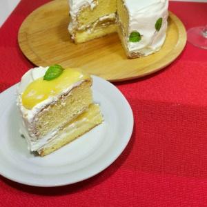 結婚記念日のお祝いに☆リンゴのショートケーキ