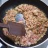 生姜が効いた「鶏そぼろ」と「鶏そぼろ入り三色蕎麦」