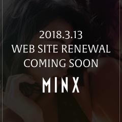 MINXのHPリニューアルしました