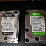 『自宅のファイルサーバ改造計画その1 ハードディスク買い足し』の画像