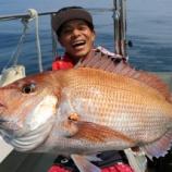 『8月18日(日) 釣果 本命マダイは8匹 最大は70センチ』の画像