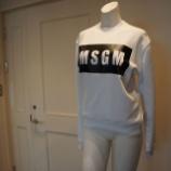 『MSGM(エムエスジーエム)パネルロゴトレーナー』の画像