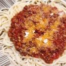 シンプル簡単ミートソーススパゲッティ
