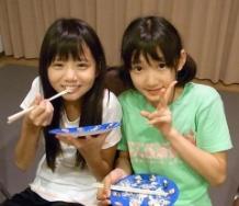 『宮本佳林ちゃんが田辺奈菜美ちゃんの誕生日を祝福!』の画像