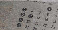 2020年のカレンダーはセリアとキャンドゥで。