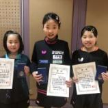『第27回宮城県小学生学年別卓球大会 結果【 仙台ジュニア 】』の画像