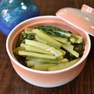 レンジであっという間に♪小松菜の中華風お浸し