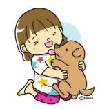 『【クリップアート】仔犬と子ども』の画像