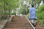 徳川家康にゆかりのある「神祖営趾之碑」付近から「旗掛け松」のある星田公園まで歩いてみる【後編:星田会館側の入り口は結構険しい】