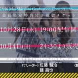 『超速報!!!『白石麻衣卒業コンサート』ついにチケット販売開始へ!!!開演時間も明らかに!!!!!!キタ━━━━(゚∀゚)━━━━!!!』の画像