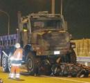 事故車に米軍トラック突っ込む 東名高速 女性死亡