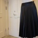 『Sinequanone(シネカノン)フェイクレザープリーツスカート』の画像