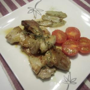 塩豚バラ肉のソテー