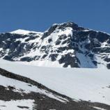 『氷河解ける最高峰:スウェーデンのケブネカイセ南頂』の画像
