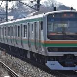 『【過去画】E231系の快速おさんぽ川越号』の画像