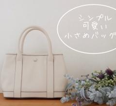 シンプル可愛い小さめバッグ&バッグが少なかった理由。