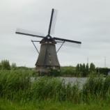 『オランダ、キンテルダイクの風車群』の画像