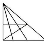 問題 「この図の中に三角形はいくつありますか?」←これでおまえらの知能がバレるらしいぞ!