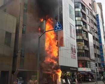 渋谷センター街の火事火災が起きたビルの飲食店の火の使い方がヤバイと話題に・・・2ch「これが火元?」(動画あり)