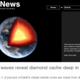 『地中深くに1000兆トン超のダイヤモンド』の画像