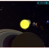 『(小ネタ)8月10日に太陽系の惑星が(ほぼ)1列に並ぶ !?』の画像
