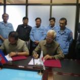 『2014.07.29 第4期IMCCD-CMAC地雷処理共同事業の署名式』の画像
