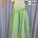 レースとお花の子供ドレス ライトグリーン(7歳)SOLD OUT