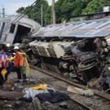『東急8500系8612F、衝突脱線事故(3月10日)第一報』の画像