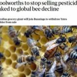 『オートラリアの大手スーパーが蜜蜂に悪影響の農薬販売を中止』の画像