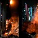 【動画】ブラジル、ビルで大規模な火災!ビル全体が炎に包まれ、そして、崩壊! [海外]