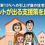 『10月1日からの消費税増税後に家づくりする際の優遇制度などのまとめとポイント』の画像