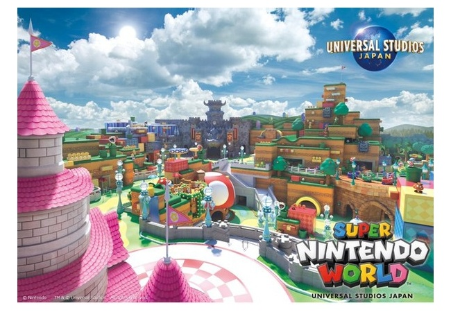 【USJ】任天堂がテーマのエリア『SUPER NINTENDO WORLD』の新ビジュアルが公開!!経済効果11.7兆円wwwwwwwwwwwww