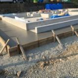 『木造住宅新築工事、基礎工事完了。』の画像