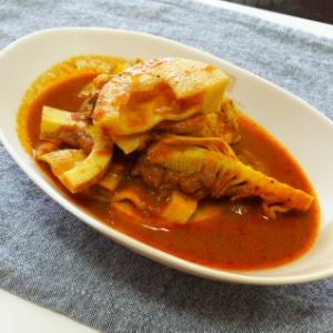 タケノコと鶏ムネ肉のカレー
