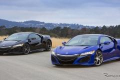 ホンダ NSX 新型、青と黒の新仕様を初公開…オプションの内容も判明