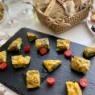 一口サイズの2種のチーズとおかひじきのフリッタータ