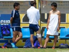 【画像】練習中の日本代表・永井が森三中大島にそっくりwww