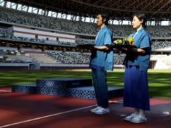 【画像】東京五輪の表彰式衣装がもろに韓国風wwwwwwwwwwww