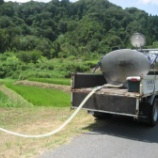 『棚田に潤いを!水の供給で稲達は大喜び?』の画像