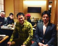 岡崎が元阪神タイガースの林威助選手の引退パーティーに出席