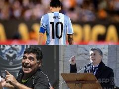 「メッシは代表にとどまらなければならない」・・・母国の英雄マラドーナと大統領が説得!